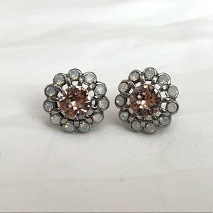 Chloe + Isabel pink & opal iridescent floral studs